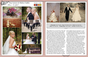 Adirondack Weddings magazine Wedding Announcement