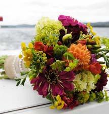 Mountain Greenery Wedding Flowers