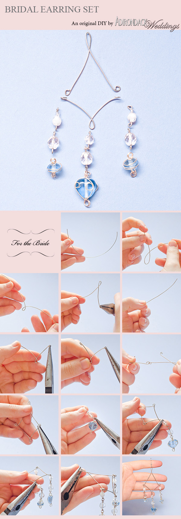 DIY Bridal Earring Set | Adirondack Weddings Magazine