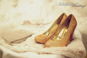 gold shoe