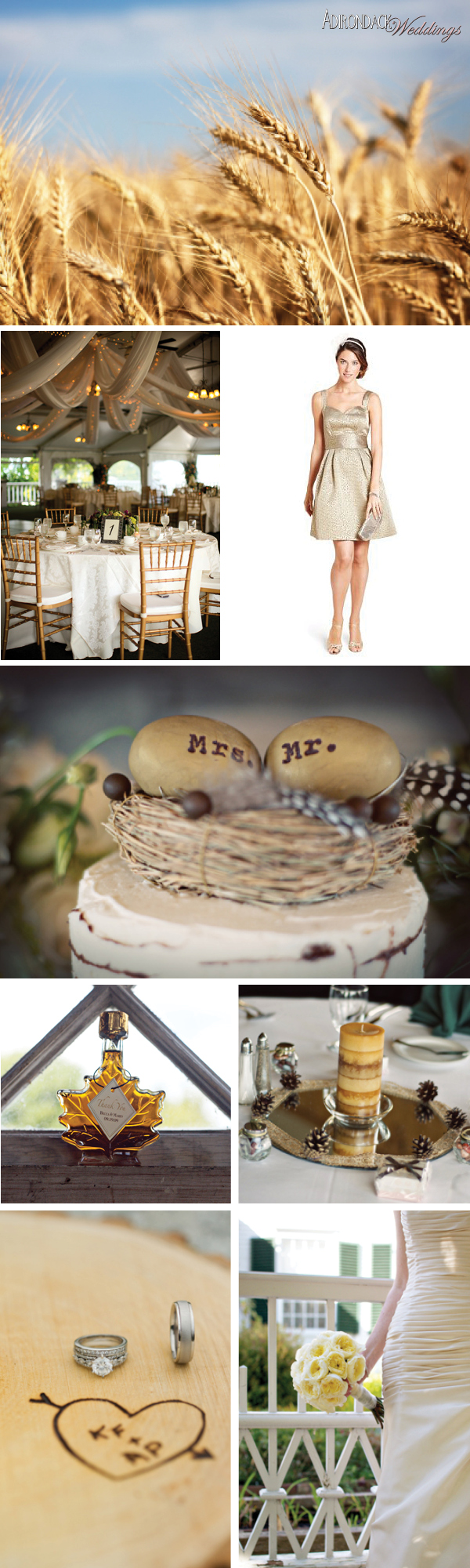 Gold Inspiration Board | Adirondack Weddings Magazine
