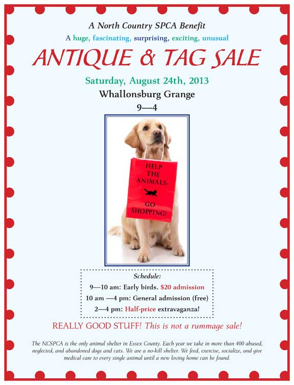 Adirondack Weddings | North Country SPCA Tag Sale
