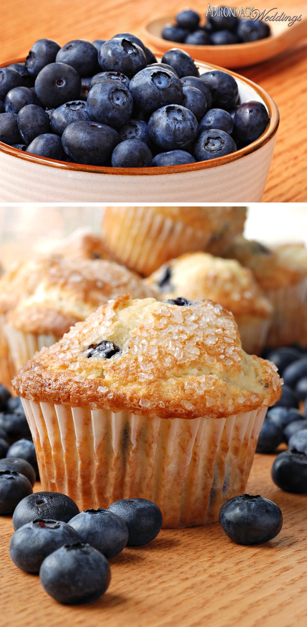 Blueberry Muffins| Adirondack Weddings Magazine