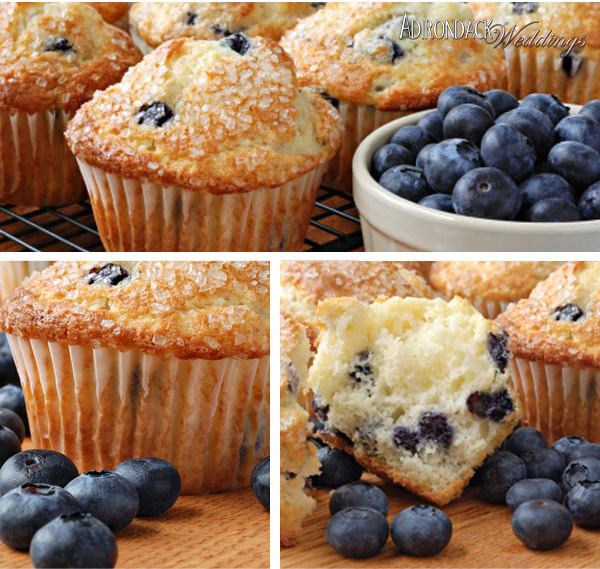 Blueberry Muffins | Adirondack Weddings Magazine