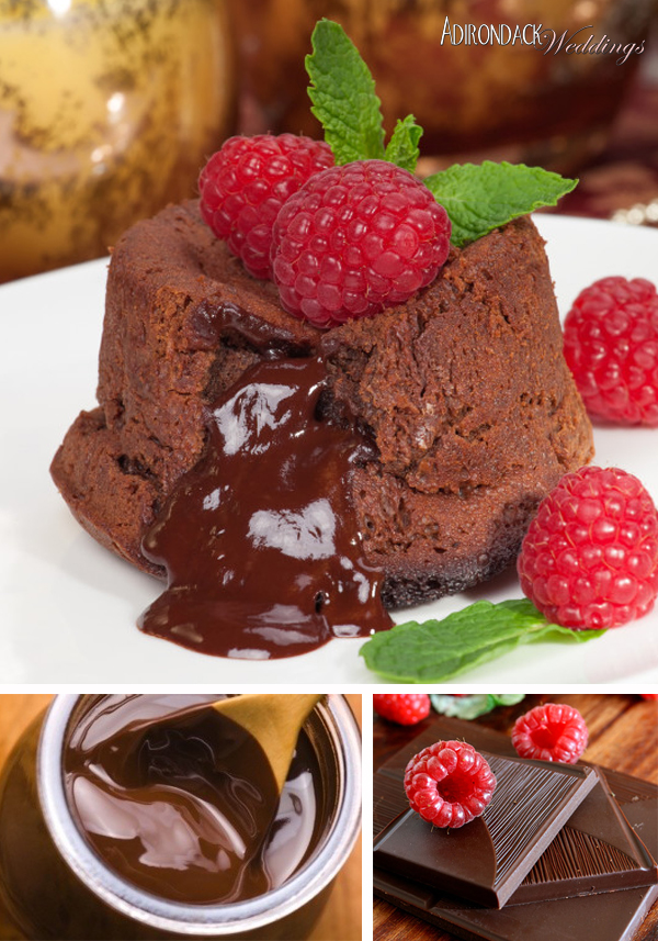 Chocolate Raspberry Lava Cake | Adirondack Weddings Magazine