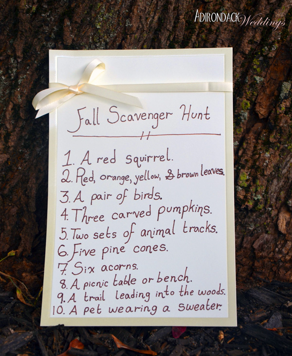 A Fall Scavenger Hunt by Adirondack Weddings Magazine
