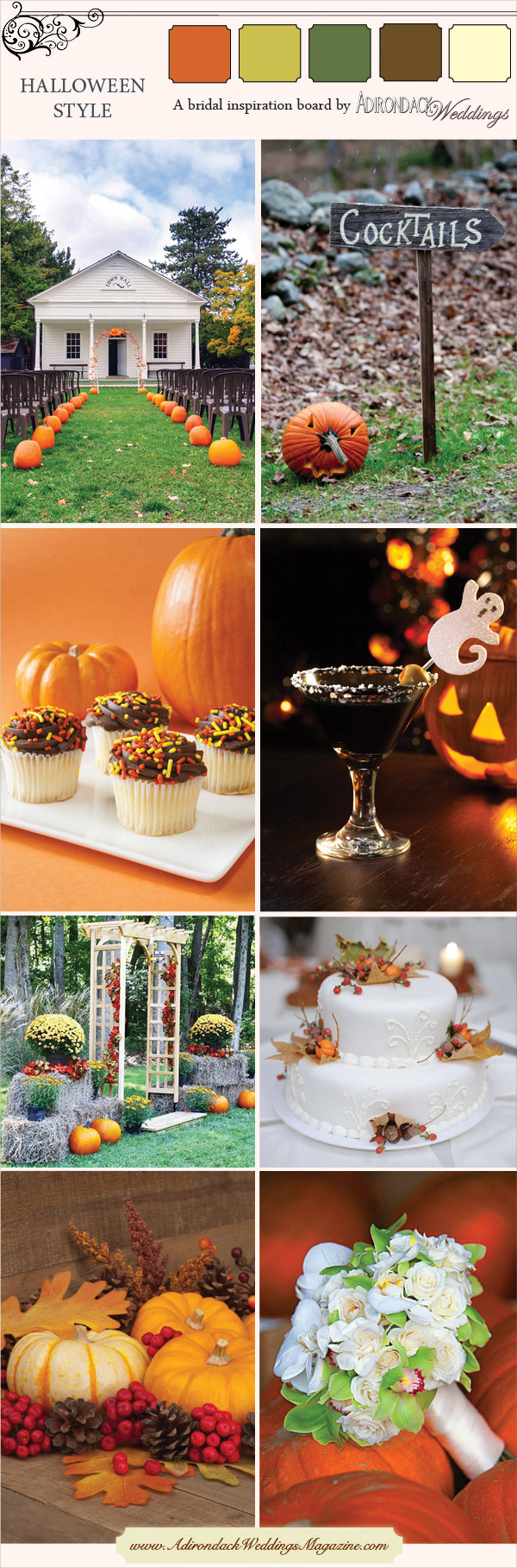 Halloween Inspiration Board | Adirondack Weddings Magazine