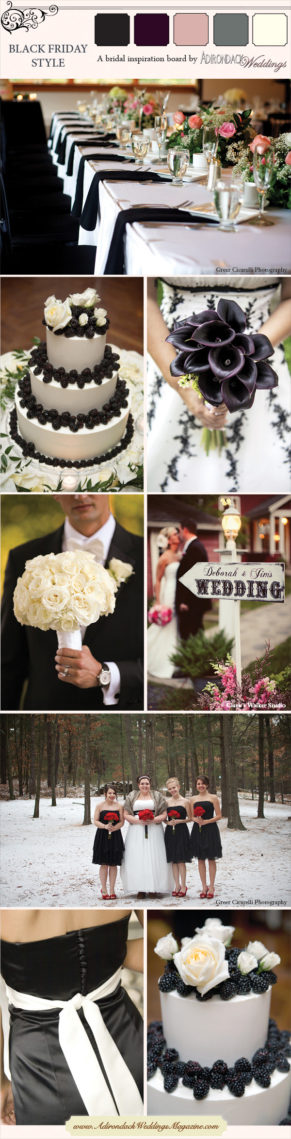 Black Inspiration Board | Adirondack Weddings Magazine