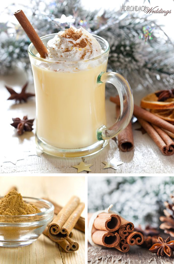 Eggnog Signature Holiday Cocktail | Adirondack Weddings Magazine