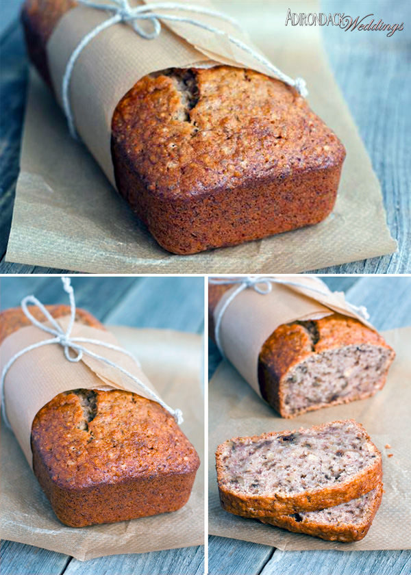 Homemade Banana Bread | Adirondack Weddings Magazine