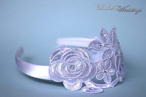 DIY lace headbands | Adirondack Weddings Magazine