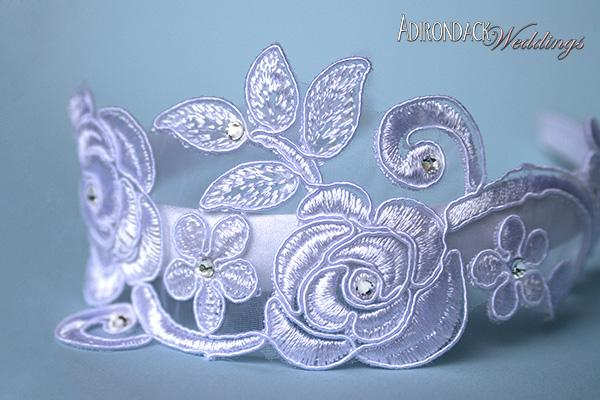 DIY lace headbands | Adirondack Weddings Magazine