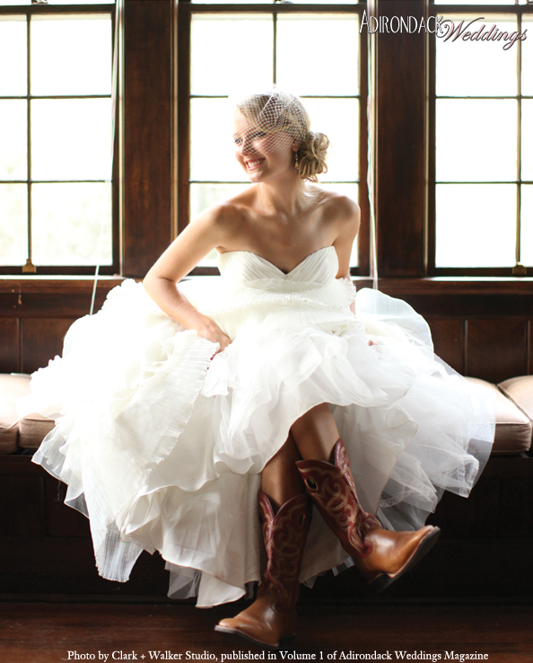Cowboy Boots | As Seen in Volume 1 of Adirondack Weddings Magazine