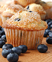 Homemade Adirondack blueberry muffins