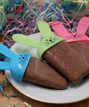 Homemade Easter Mocha Fudge Pops