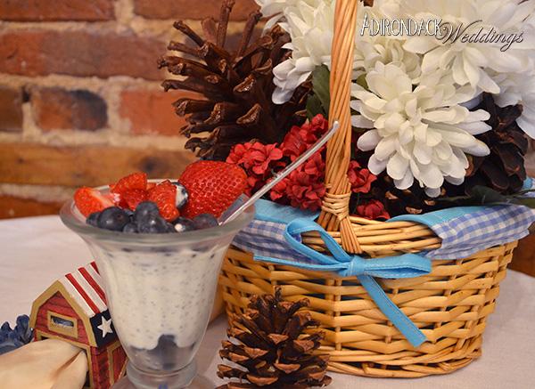 Greek yogurt parfait with Chia seeds and berries