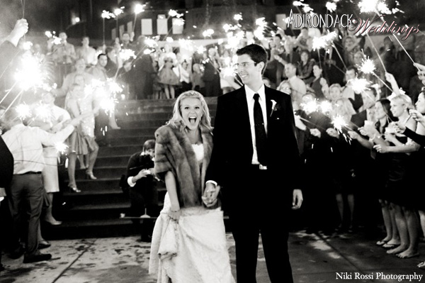 Ideas for an Exit to Remember | Sparklers | Adirondack Weddings Magazine
