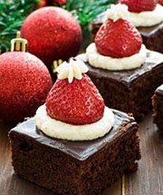 Holiday Recipe: Santa Hat Brownies