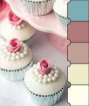 Cupcakes & Pearls Color Palette