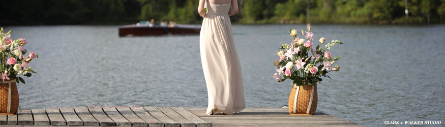 Beautiful lake side wedding ceremony in Lake Placid
