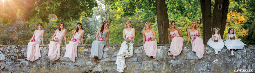 Beautiful Adirondack bridesmaids in Saratoga Springs