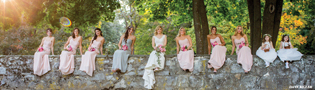 Beautiful Adirondack bridesmaids in Saratoga Spring